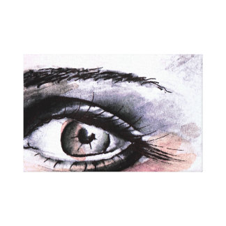 Eye water color india ink ink canvas print