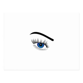 Eye with contact lens postcard