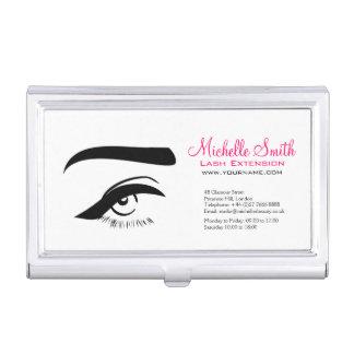 Eye with eyeliner lash extension branding business card holder