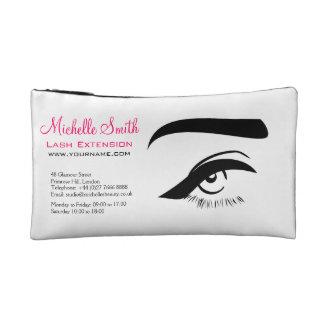 Eye with eyeliner lash extension branding cosmetics bags