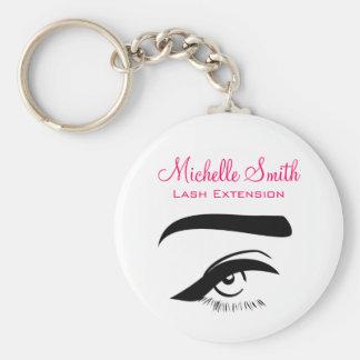 Eye with eyeliner lash extension branding keychain