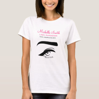 Eye with eyeliner lash extension branding T-Shirt