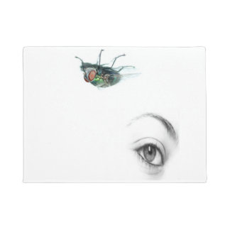 eye with fly doormat