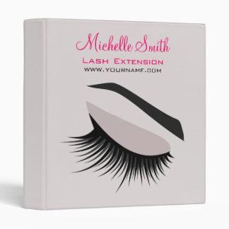 Eye with long lashes lash extension branding 3 ring binders