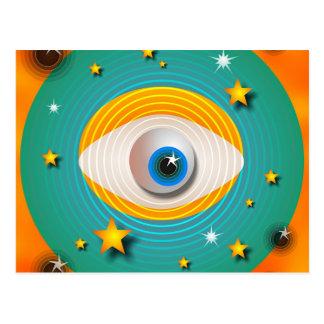Eyeball Abstract Postcard