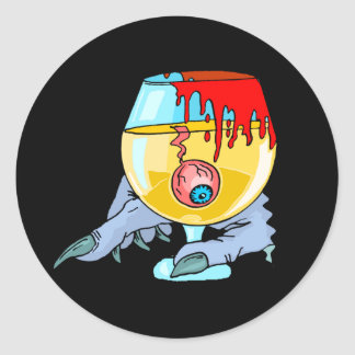 Eyeball Cocktail Classic Round Sticker