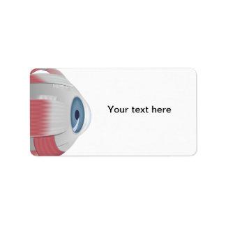 Eyeball Eye address Label