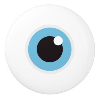 Eyeball - funny novelty ceramic knob