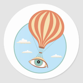 Eyeball Hot Air Balloon Sticker