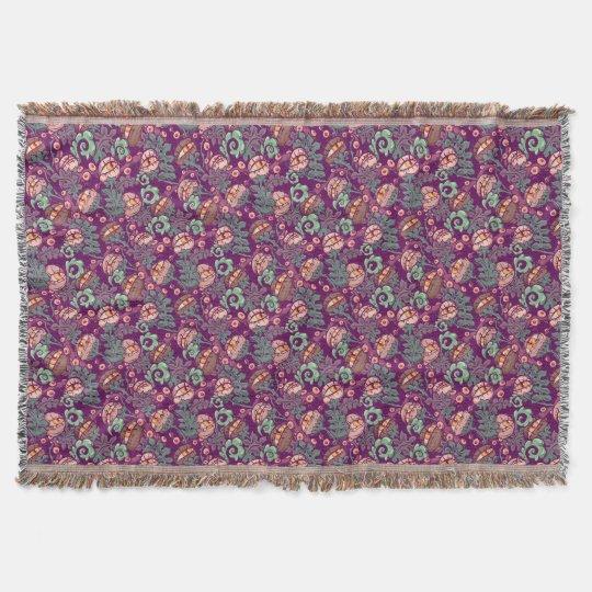 Eyeball Plants Pattern Throw Blanket