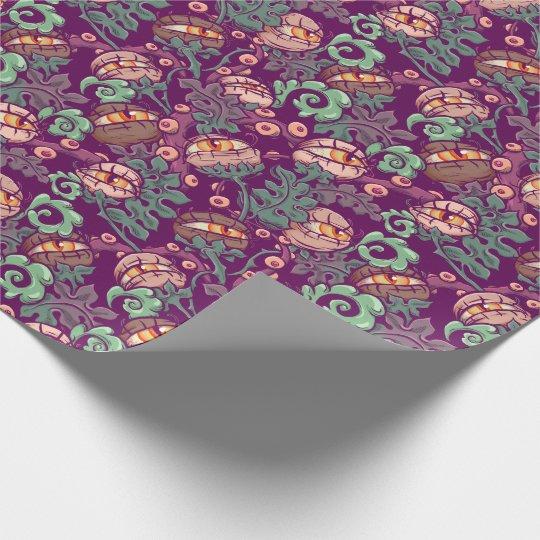 Eyeball Plants Pattern Wrapping Paper