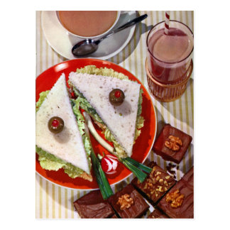 eyeball sandwich sharp postcard