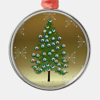Eyeball Tree Metal Ornament