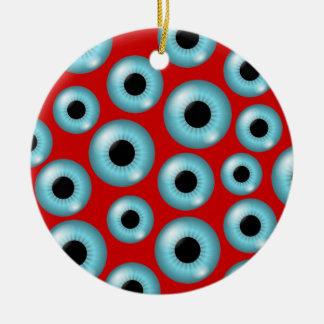 Eyeballs Ceramic Ornament