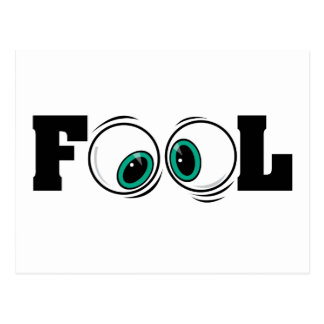 Eyeballs Fool Postcard