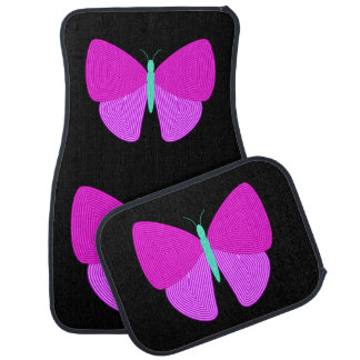 Eyecatching Artistic Line Pattern Butterfly Car Mat