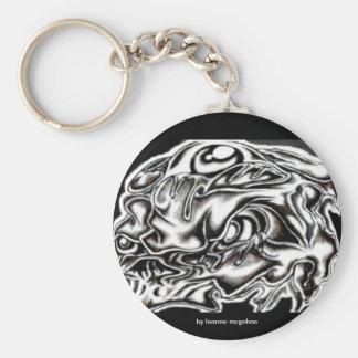 eyed skull keychain