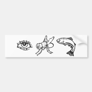 EyeFlyFish Bumper Sticker