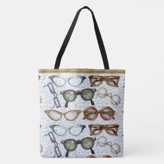 Eyeglass Fashion Pattern Tote Bag