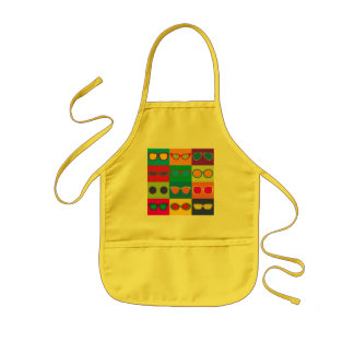 Eyeglasses Checkerboard Kids Apron