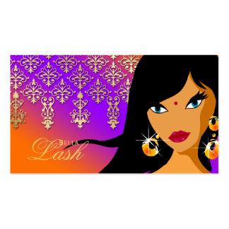 Eyelash Business Card Gold Indian Woman POP