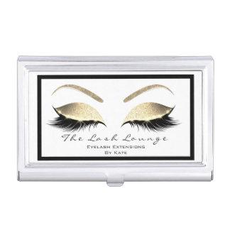 Eyelash Extension Beauty Studio Gold Glitter Business Card Holder