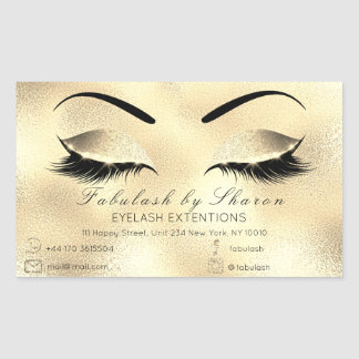 Eyelash Extension Makeup Beauty Salon Adress Glass Sticker