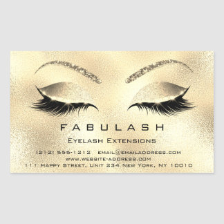 Eyelash Extension Makeup Beauty Salon Gold VIP Sticker
