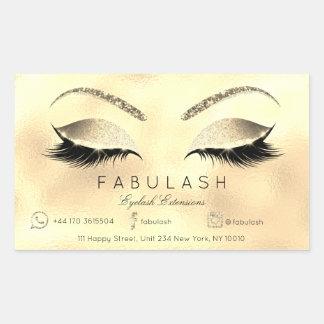 Eyelash Extension Makeup Beauty Salon Lux Gold VIP Sticker