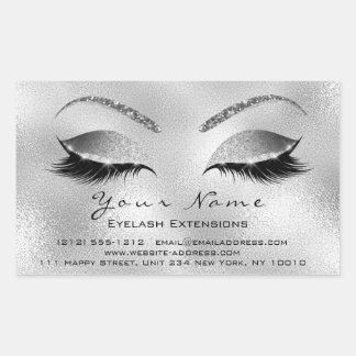 Eyelash Extension Makeup Beauty Salon Silver VIP Sticker