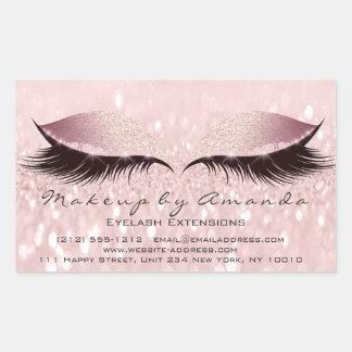 Eyelash Extension Pink Makeup Artist Beauty Studio Sticker