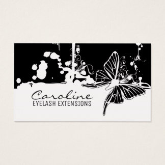Eyelash Extensions Black Butterfly Trendy Card