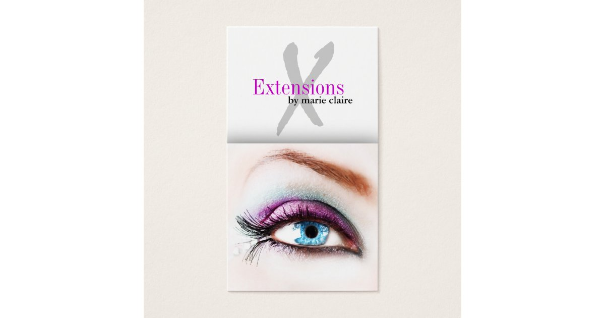 Eyelash extensions business card template for Eyelash extension gift certificate template