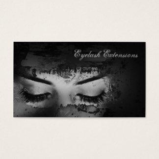 Eyelash Extensions Dark Strokes Business Card