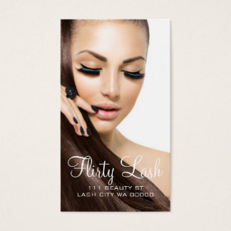 Eyelash Extensions Lash Cosmetologist Salon Business Card