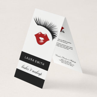 Eyelash Extensions Lash & Lips AfterCare Referral Business Card