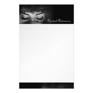 Eyelash Extensions Top & Bottom Black Border Flyer