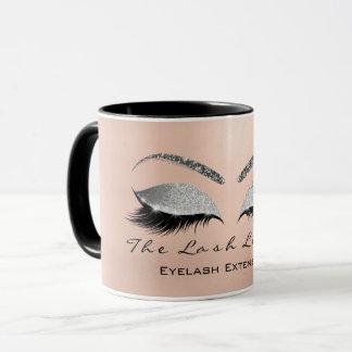 Eyelash Extention Beauty Gray Silver Eye Glitter Mug