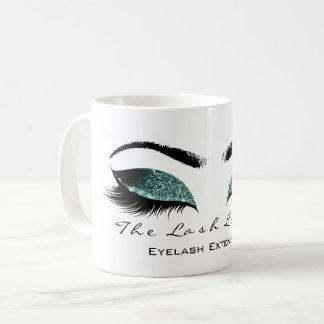 Eyelash Extention Beauty Studio Aquatic Glitter Coffee Mug
