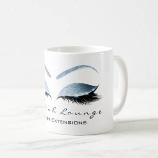Eyelash Extention Beauty Studio Blue Glitter Coffee Mug