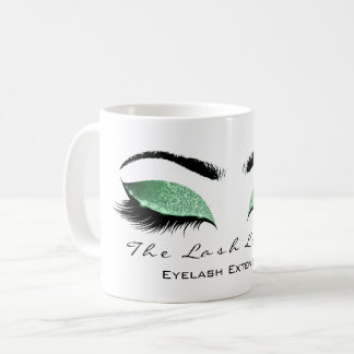 Eyelash Extention Beauty Studio Emerald Glitter Coffee Mug