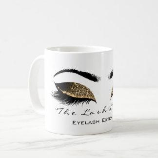 Eyelash Extention Beauty Studio Honey Gold Glitter Coffee Mug