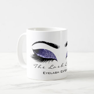 Eyelash Extention Beauty Studio Indigo BlueGlitter Coffee Mug