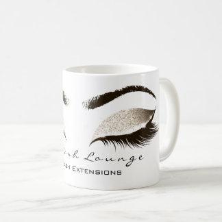 Eyelash Extention Beauty Studio Ivory Lux Glitter Coffee Mug