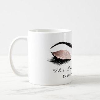 Eyelash Extention Beauty Studio Pink Blush Glitter Coffee Mug
