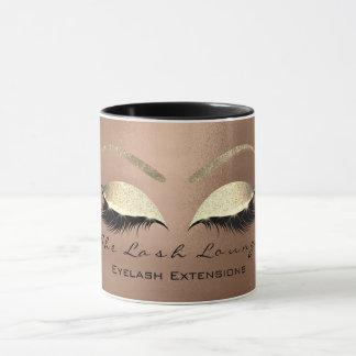Eyelash Extention Beauty Studio Skinny Eye Glitter Mug