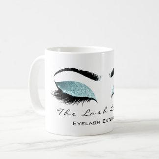 Eyelash Extention Beauty Studio Tiffany Glitter Coffee Mug