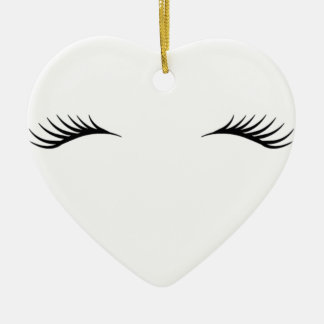 Eyelashes Ceramic Ornament