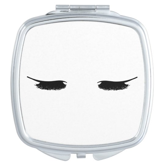 Eyelashes Chic Compact Mirror