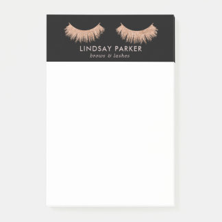Eyelashes Makeup Artist Stylish Black Post-it-Note Post-it Notes